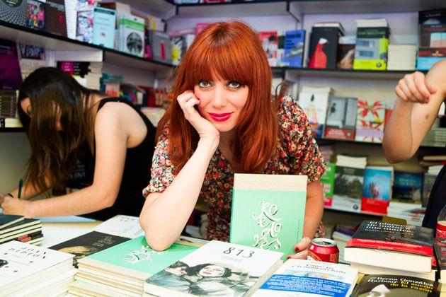 La escritora Paula Bonet en la Feria del Libro de Madrid en