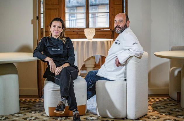 Begoña Rodrigo, chef de 'La Salita', con José Antonio Carazo, jefe de cocina de El