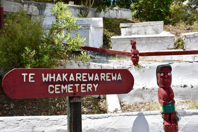 Νεκροταφείο Te Whakarewarewa στο Whakarewarewa, The Living Maori Village στο κέντρο της Ροτόρουα, Νέα Ζηλανδία/ Βόρειο Νησί.