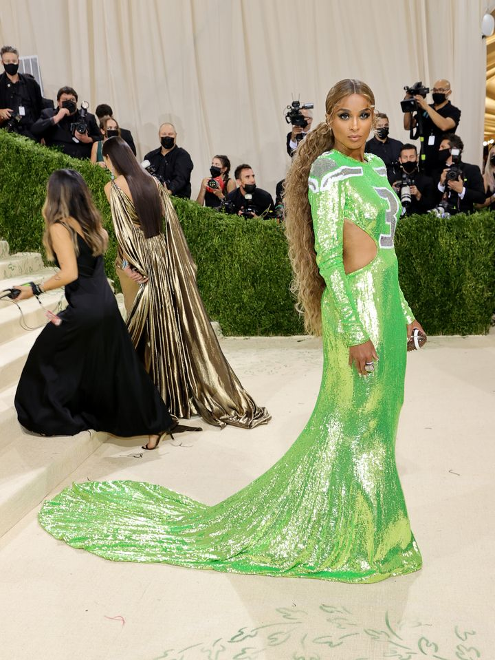 Ciara attends the 2021 Met Gala.