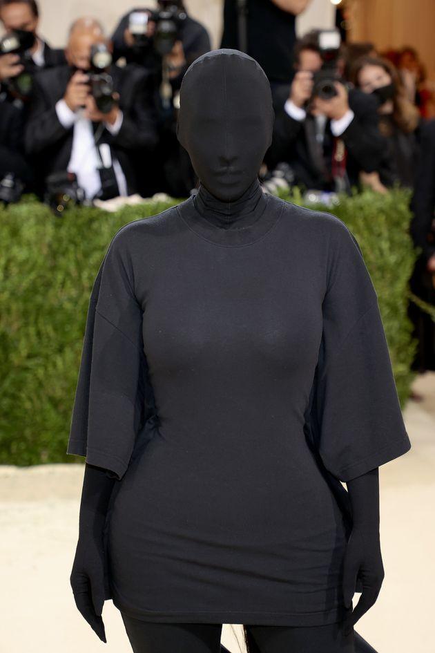 Kim Kardashian attends the 2021 Met Gala on Monday