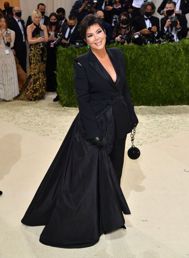 Kris Jenner arriving at the Met Gala on Monday