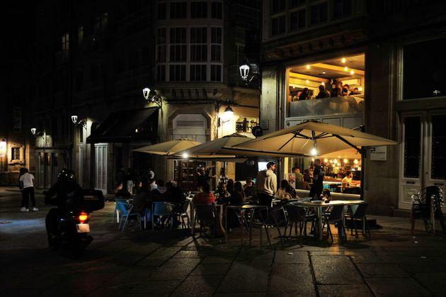 Una terraza de Ourense en una imagen de