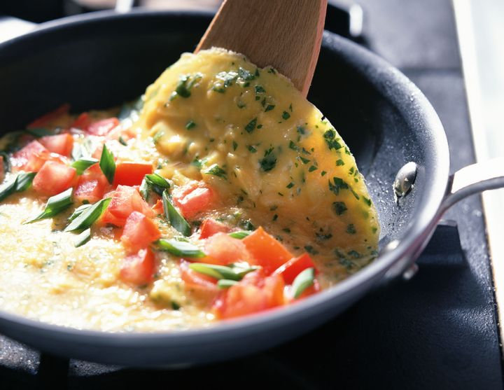 Imagine being able to just pour these omelet ingredients into the pan, with everything already prepped in advance. Now go do it.