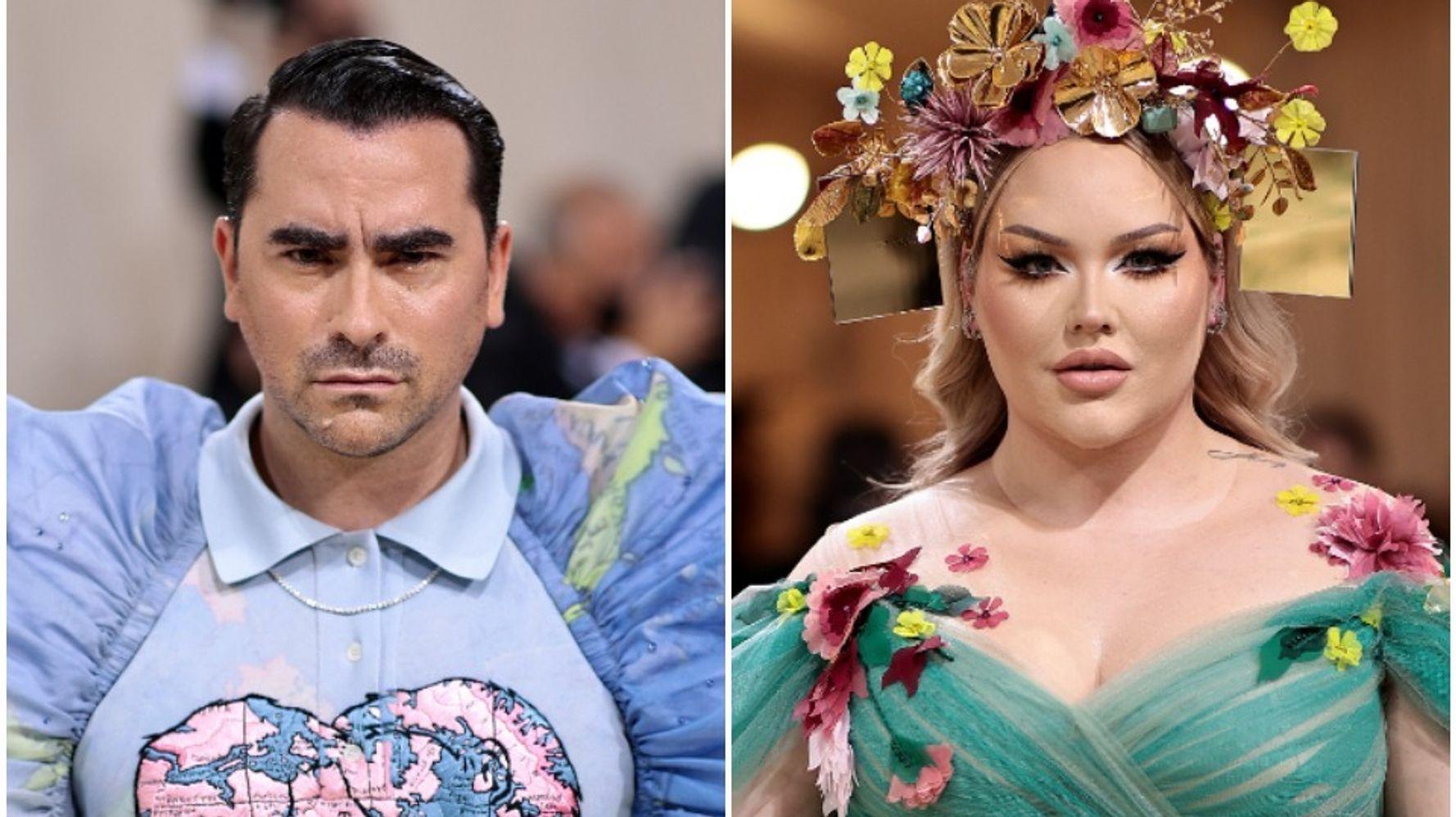 Dan Levy, Nikkie de Jager Make Powerful LGBTQ Statements With 2021 Met Gala Couture