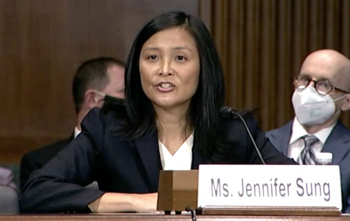 Is Brett Kavanaugh intellectually and morally bankrupt? President Joe Biden's judicial nominee Jennifer Sung is gonna go ahead and keep that to herself.