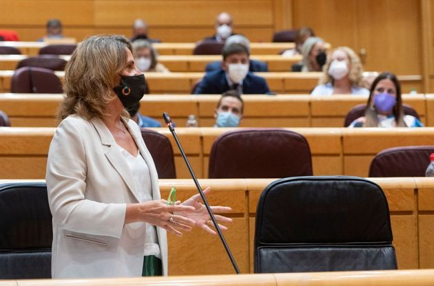 La vicepresidenta tercera del Gobierno y ministra de Transición Ecológica, Teresa Ribera, este martes...