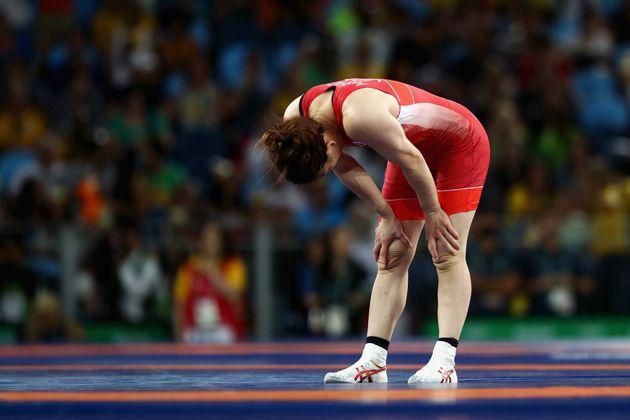 リオ五輪のレスリング決勝で敗れる吉田選手