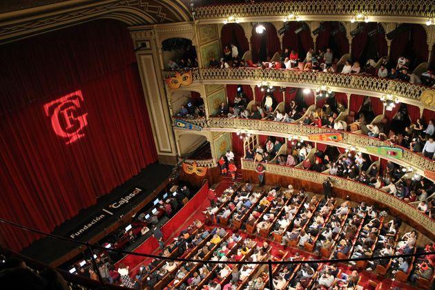 Imagen del interior del Gran Teatro Falla en una función del