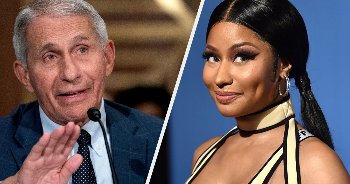 Nicki Minaj's 'Swollen Balls' Vaccine Claim Is Just Plain Nuts, Says Top US Doctor