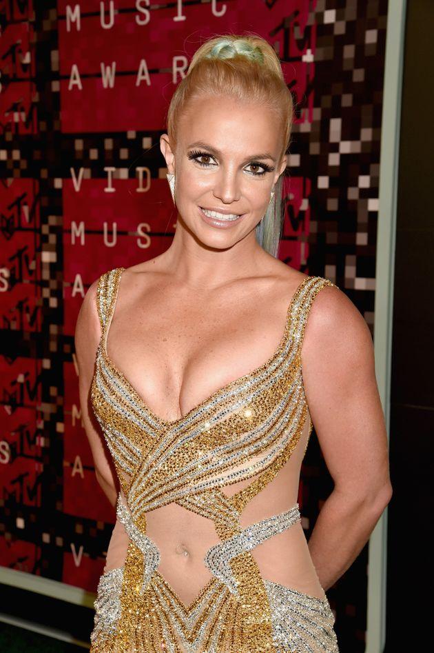 Britney at the 2015 VMAs