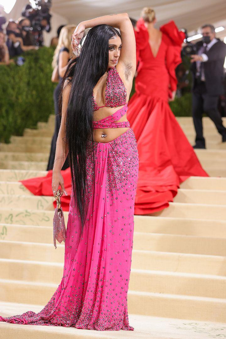 Lourdes Leon, en la alfombra roja de la gala del Met 2021.