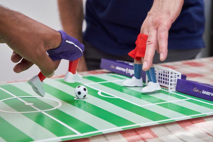 Finger football fun with Cadbury Dairy Milk Fingers