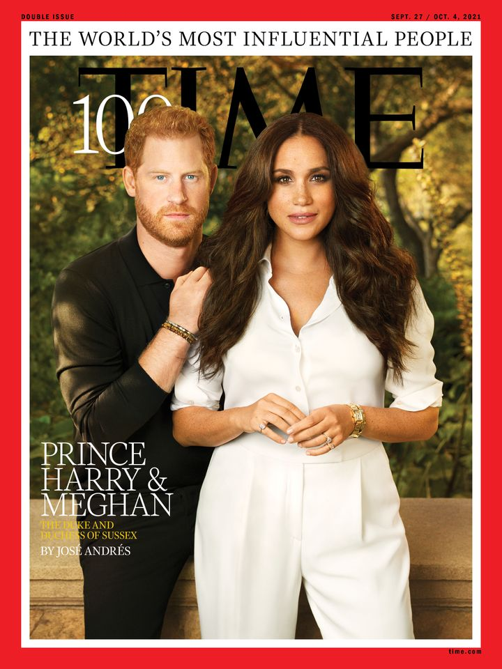 Los duques de Sussex, en la portada de 'TIME'.