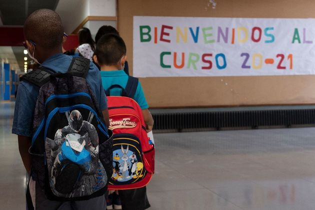 Niños en un colegio de Valencia, en una imagen de
