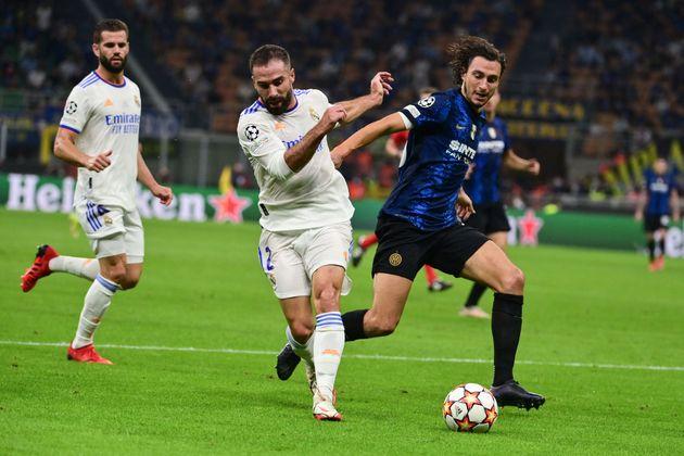 Dani Carvajal durante el encuentro frente al Inter de
