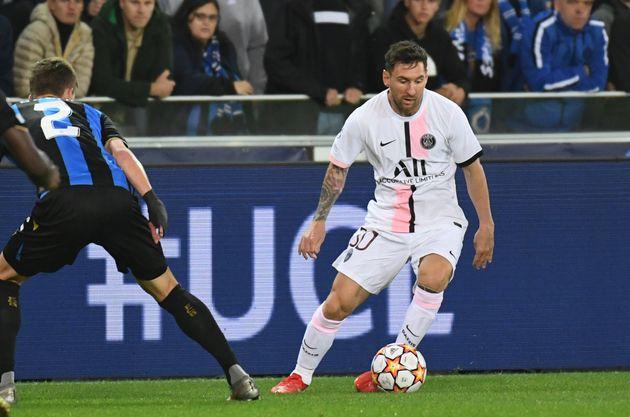 Lionel Messi lors de Bruges-PSG en Ligue des champions, le 15 septembre