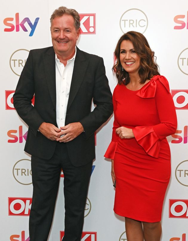 Piers Morgan and Susanna Reid attend The TRIC Awards