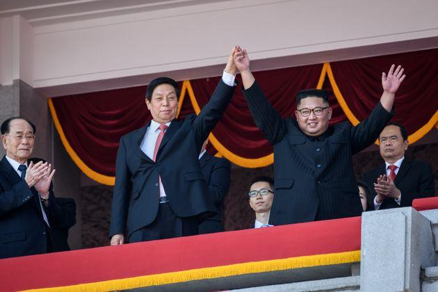 Kim Jong Un celebrating the 70th anniversary of North Korea's founding back in
