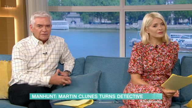 Phillip Schofield then stepped in to apologise for his guest's
