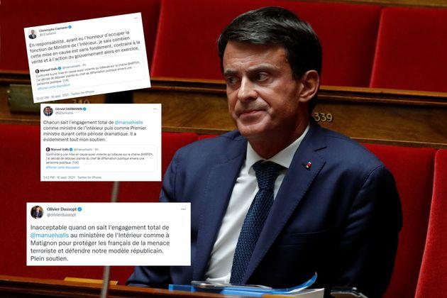 Manuel Valls photographié à l'Assemblée nationale en 2018