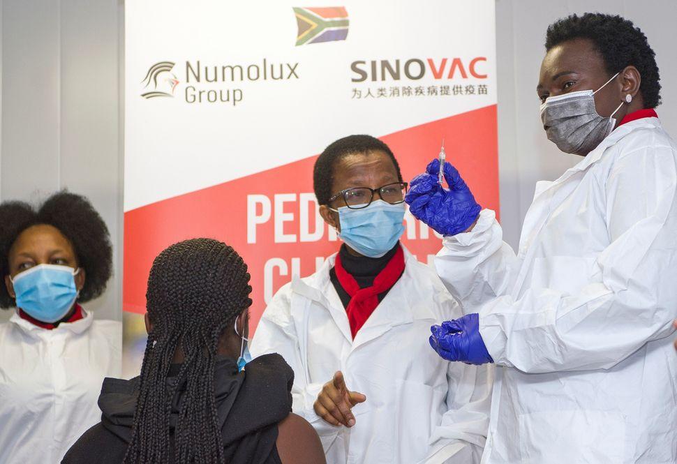 Sinovac's CoronaVac vaccine being distributed in Pretoria, South Africa