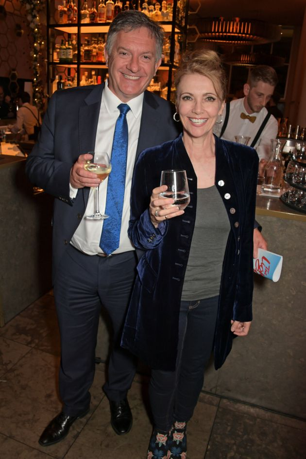 Simon McCoy and Emma Samms pictured at an event in June