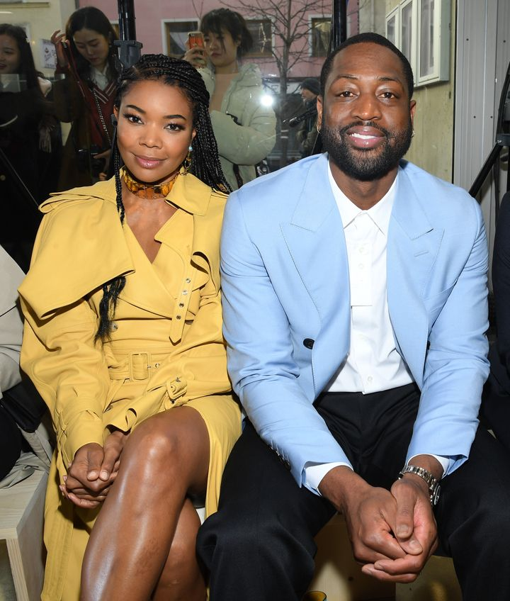 Gabrielle Union and Dwyane Wade attend Paris Fashion Week in January 2020 in Paris. In an excerpt from Union's new memoir, she discusses struggles in their relationship.