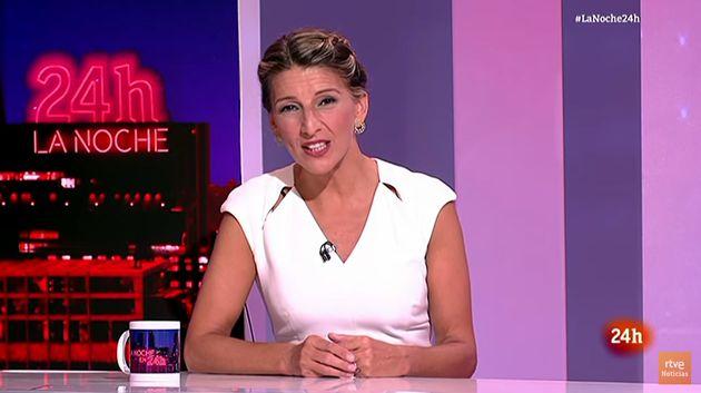 Yolanda Díaz en el Canal 24