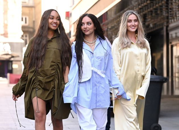 Little Mix pictured out together in