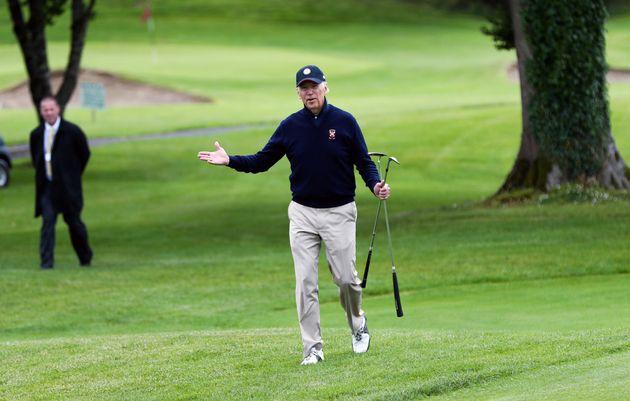 Then-Vice President Joe Biden playing golf in