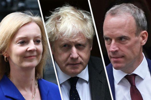 Liz Truss, Boris Johnson and Dominic