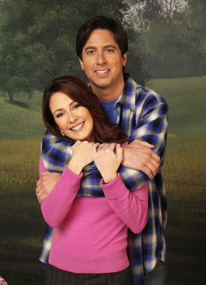 """Patricia Heaton, pictured with small-screen husband Ray Romano, on """"Everybody Loves Raymond."""""""
