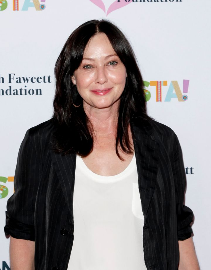 BEVERLY HILLS, CALIFORNIA - SEPTEMBER 06: Shannen Doherty attends the Farrah Fawcett Foundation's Tex-Mex Fiesta at Wallis Annenberg Center for the Performing Arts on September 06, 2019 in Beverly Hills, California. (Photo by Tibrina Hobson/WireImage)