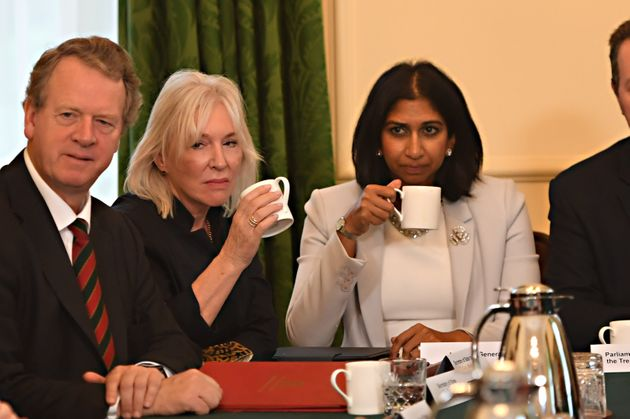 (Left to right) Scottish secretary Alister Jack, culture secretary Nadine Dorries, and attorney general...