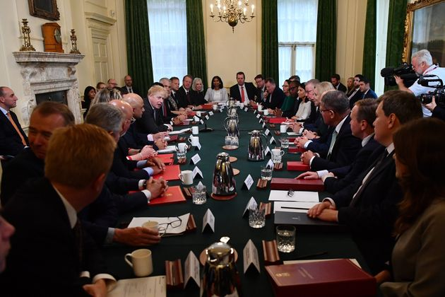 3 Photos Which Sum Up The Tensions In Johnson's New Cabinet Perfectly...
