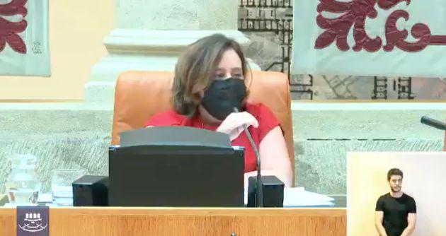 Henar Moreno, diputada de IU en La