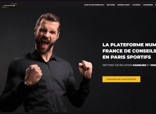 La page d'accueil du site de paris sportifs PronoClub.