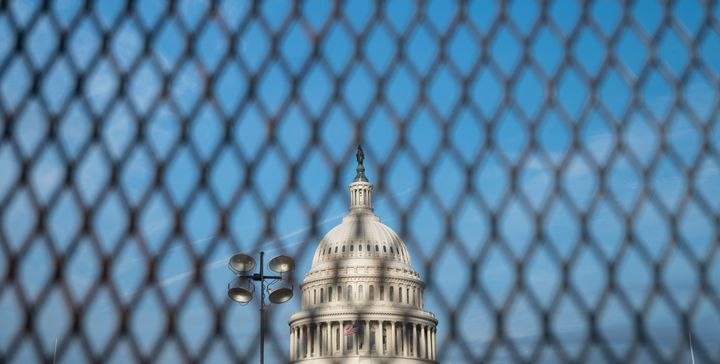 The newly erected temporary security fence on the East Front of the Capitol is among the preparations officials have made ahead of the Sept. 18 rally to hail Capitol protesters.