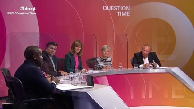Andrew Neil (right) appeared on Thursday's edition of Question
