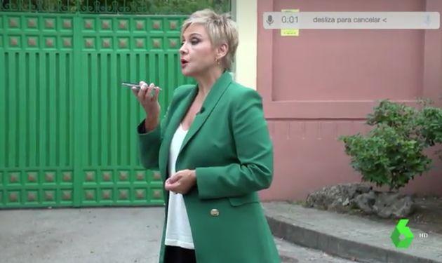 Gloria Serra envía una nota de voz a José Luis