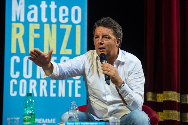 NAPLES, ITALY - JULY 12: Matteo Renzi leader of Italia Viva party during the presentation of his book...