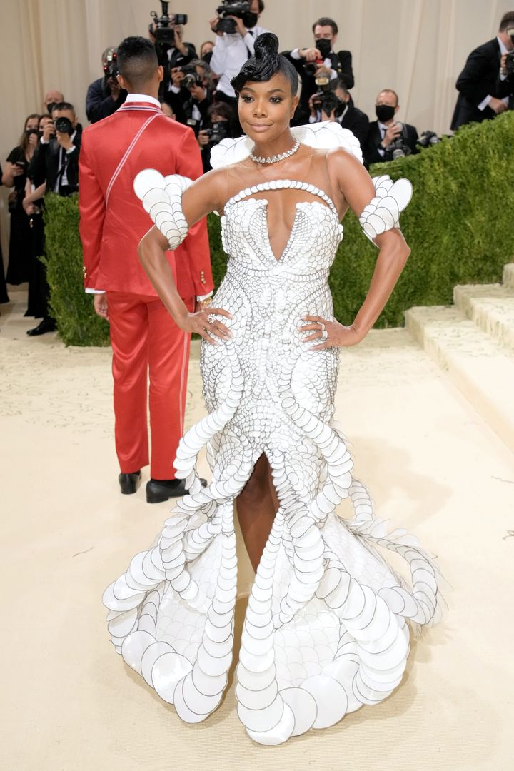 Gabrielle Union at the 2021 Met Gala at the Metropolitan Museum of Art on Sept. 13 in New York City.
