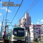 台風一過の青空が関東に広がる。午後は西日本で30℃以上の真夏日に【9月19日の天気】
