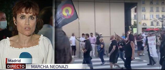 El aplaudido rótulo de Telecinco sobre la marcha neonazi en