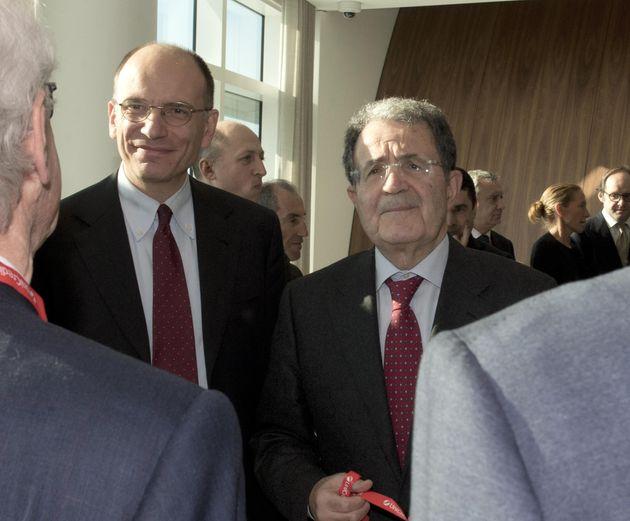 Enrico Letta e con Romano