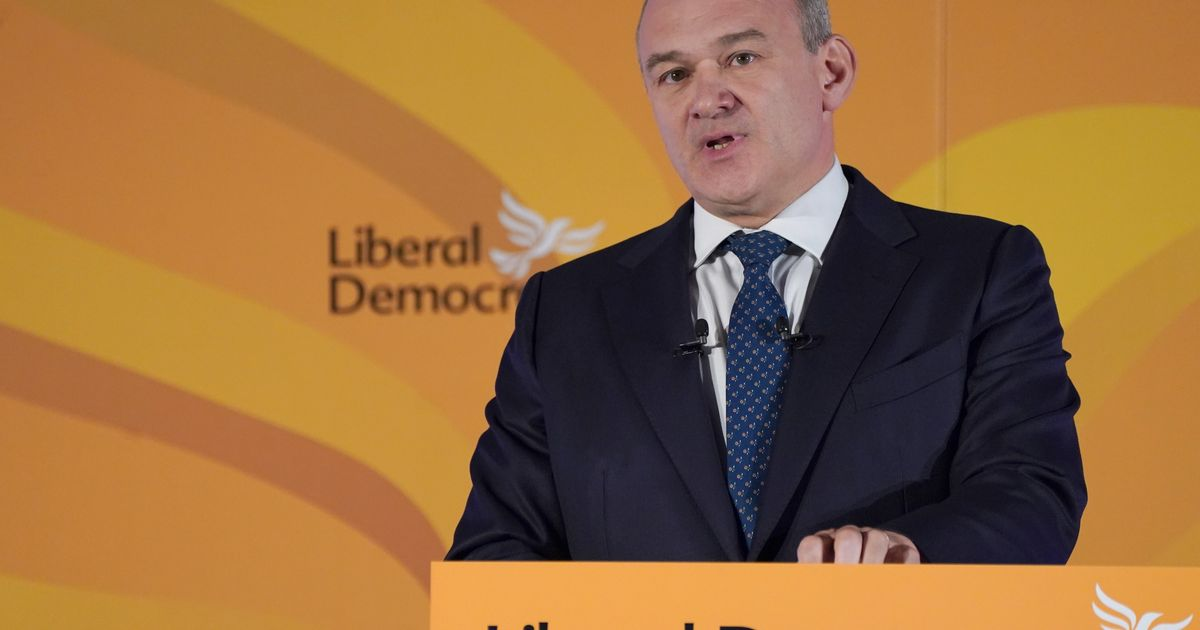 """Ed Davey Vows To """"Bring Down"""" Tory Blue Wall"""