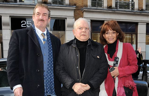 (L-R) John Challis, Sir David Jason and Sue Holderness, pictured in