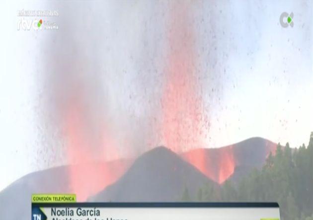 Retransmisión de la erupción en La Palma en la Televisión Pública