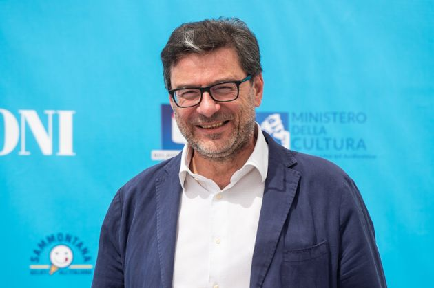 GIFFONI VALLE PIANA, ITALY - JULY 30: Giancarlo Giorgetti attends the photocall at the Giffoni Film Festival...